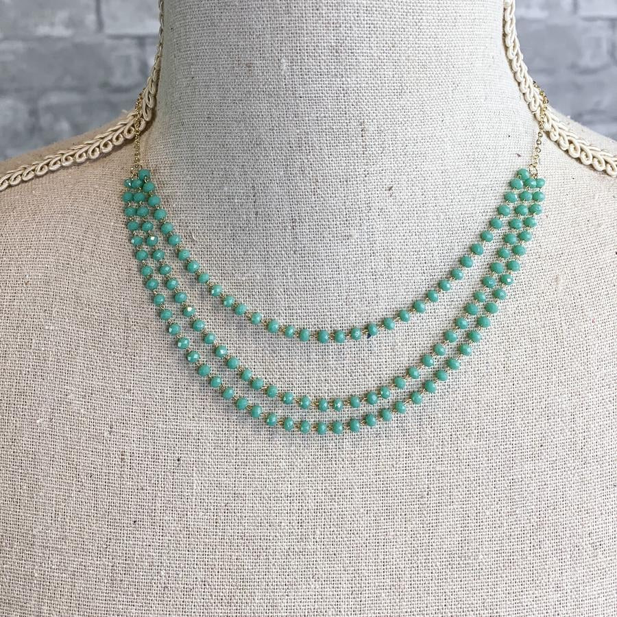 Teal Love Necklace