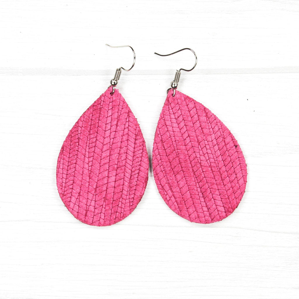 Daydream Palm Leather Earrings
