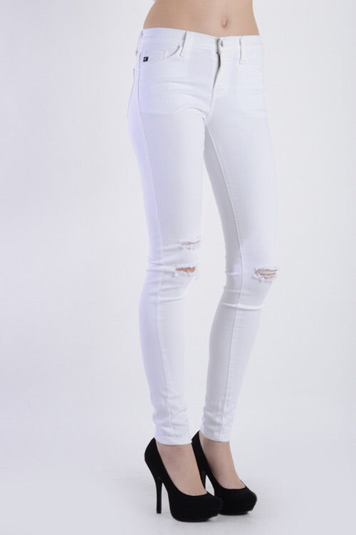 Caisa White Skinnies Kan Can