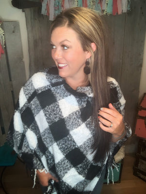 Blakelee Sweater Buffalo Check