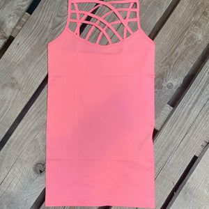 Callie Caged Cami Neon Pink