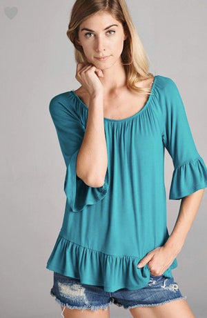 Brielle Tunic Dark Teal Plus