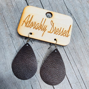 Chocolate Leather Earrings