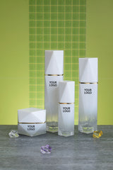 Vancouver Rhombus Cosmetic Lotion Glass Jars