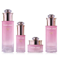 Kairo Luxury Pink Cosmetic Bottle Jars