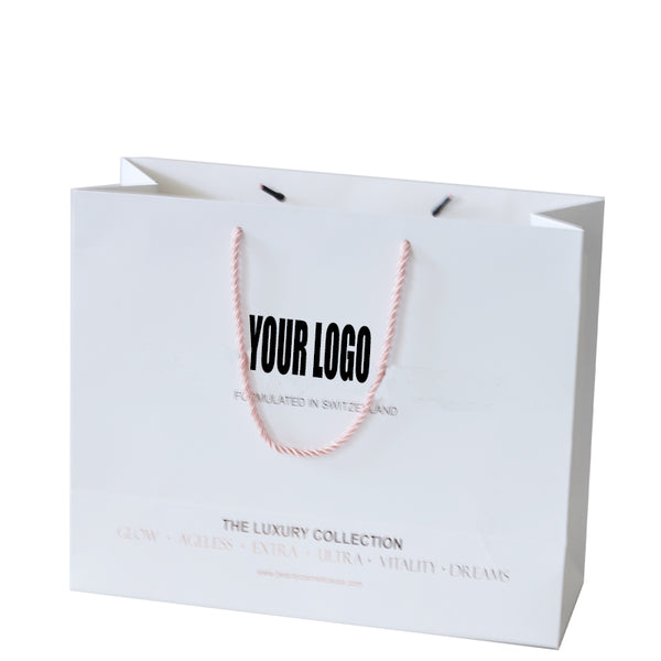 White Cotton Rope Shopping Paper Bag