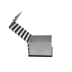 Florence Black and White Book Shaped Cosmetic Box