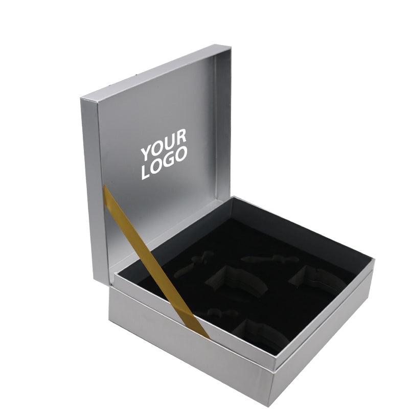 Warsaw Custom Silver Book Shaped Cosmetics Box