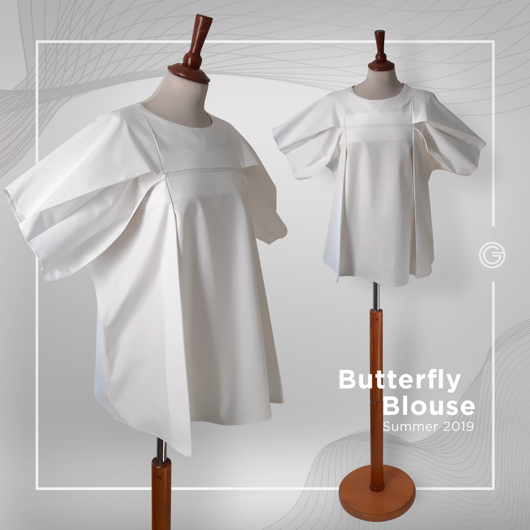 Butterfly White Blouse