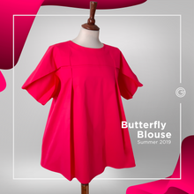 Load image into Gallery viewer, Butterfly Pink Blouse