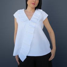 Load image into Gallery viewer, White Ruffle Blouse