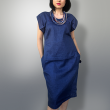 Load image into Gallery viewer, Denim linen dress