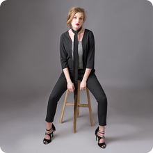 Load image into Gallery viewer, black elegant jumpsuit