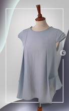 Load image into Gallery viewer, Sleeves Grey Top