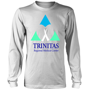 Trinitas White Ribbon in Heart (Lung Cancer) (2391)