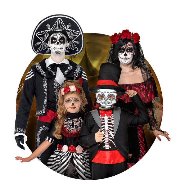 Home Glorious Devil Costume Girls Halloween Fantasy Costume For Kids Scary Boy Skeleton Costume With Mask Black Halloween Party Cosplay