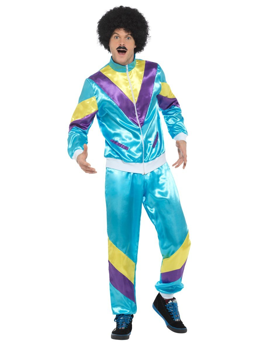 80s Height of Fashion Shell Suit Costume Blue  sc 1 st  Smiffys.com & Adult Costumes | Smiffys.com - Smiffys Fancy Dress