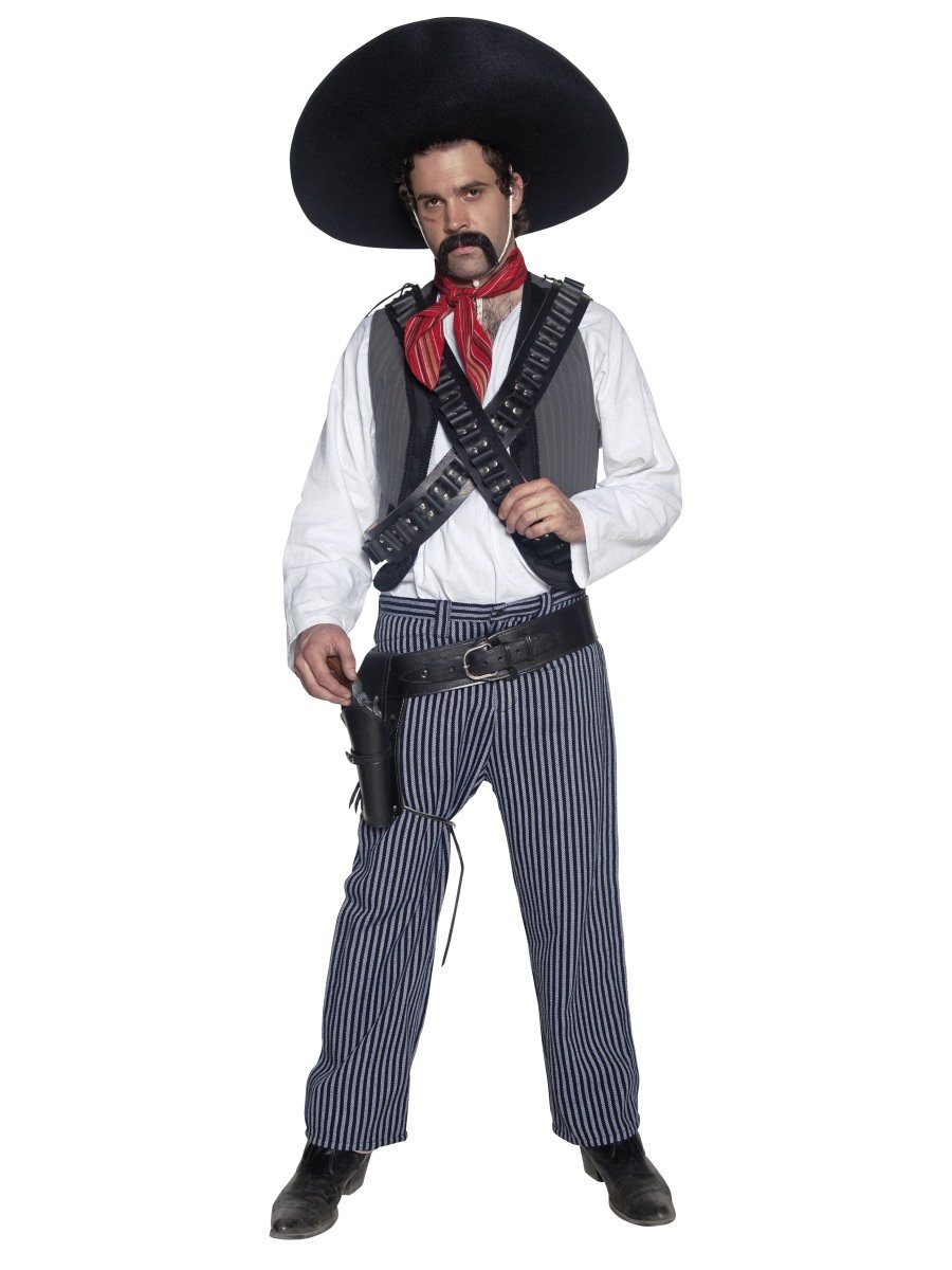 Authentic Western Mexican Bandit Costume  sc 1 st  Smiffys.com & Authentic Western Mexican Bandit Costume | Smiffys.com - Smiffys ...
