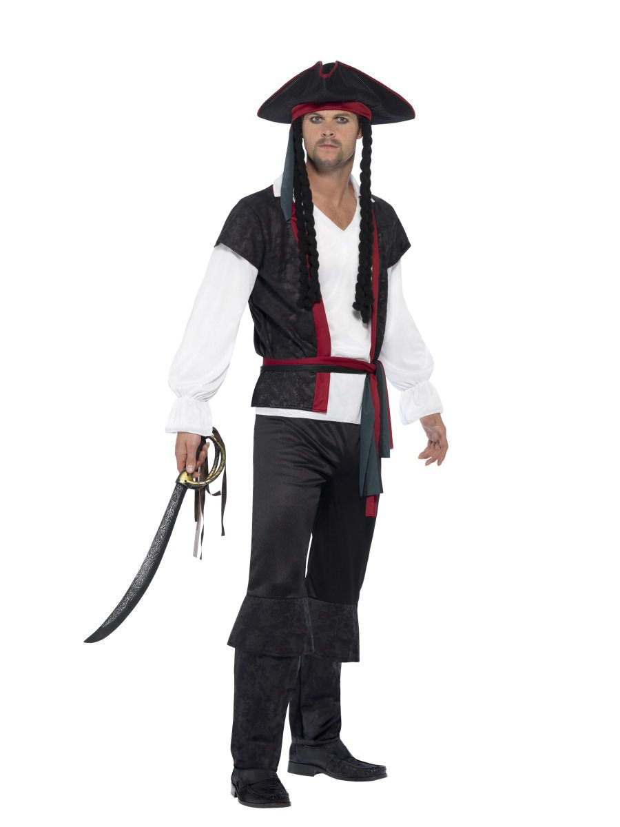 Aye Aye Pirate Captain Costume  sc 1 st  Pirates Costumes | Smiffys.com - Smiffys Fancy Dress : pirates dressing up costume  - Germanpascual.Com