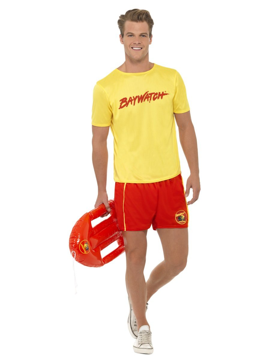 FANCY DRESS COSTUME # LADIES 1980s 80s BAYWATCH BEACH LIFEGUARD SIZE 8-14