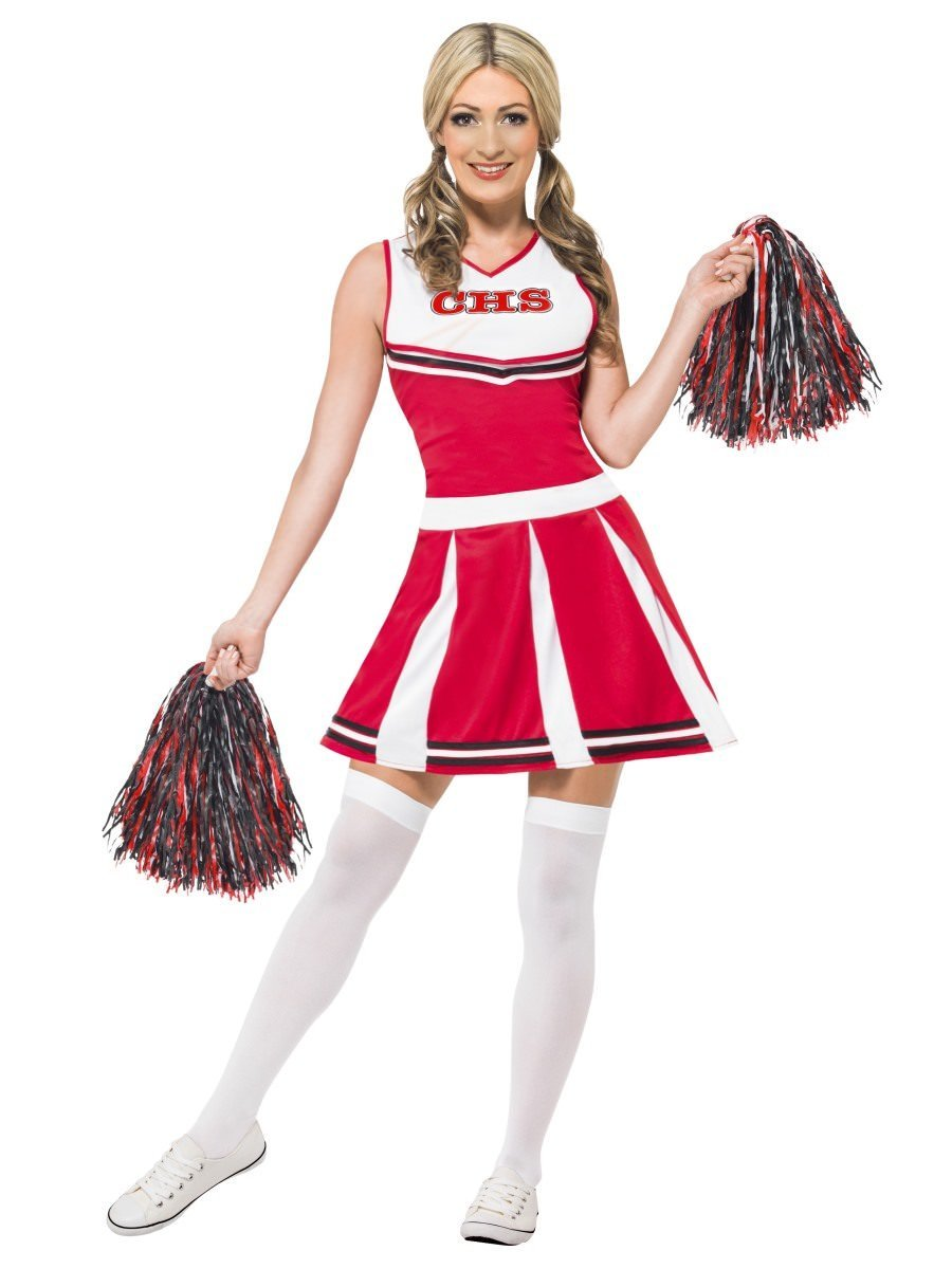 Mens Cheerleader Costume Adults High School Fancy Dress Stag Night Comedy Outfit
