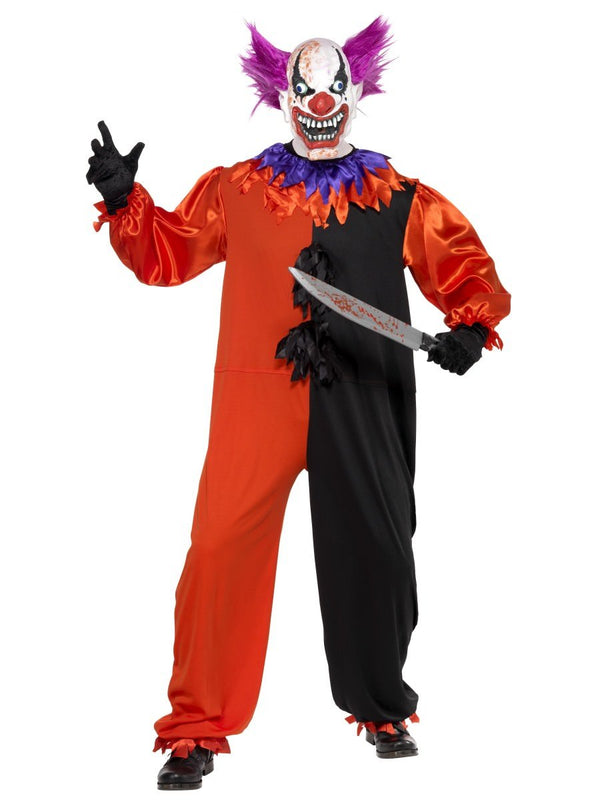 Cirque Sinister Bo Bo Clown COSTUME TIGHTS Womens Halloween Fancy Dress HAT