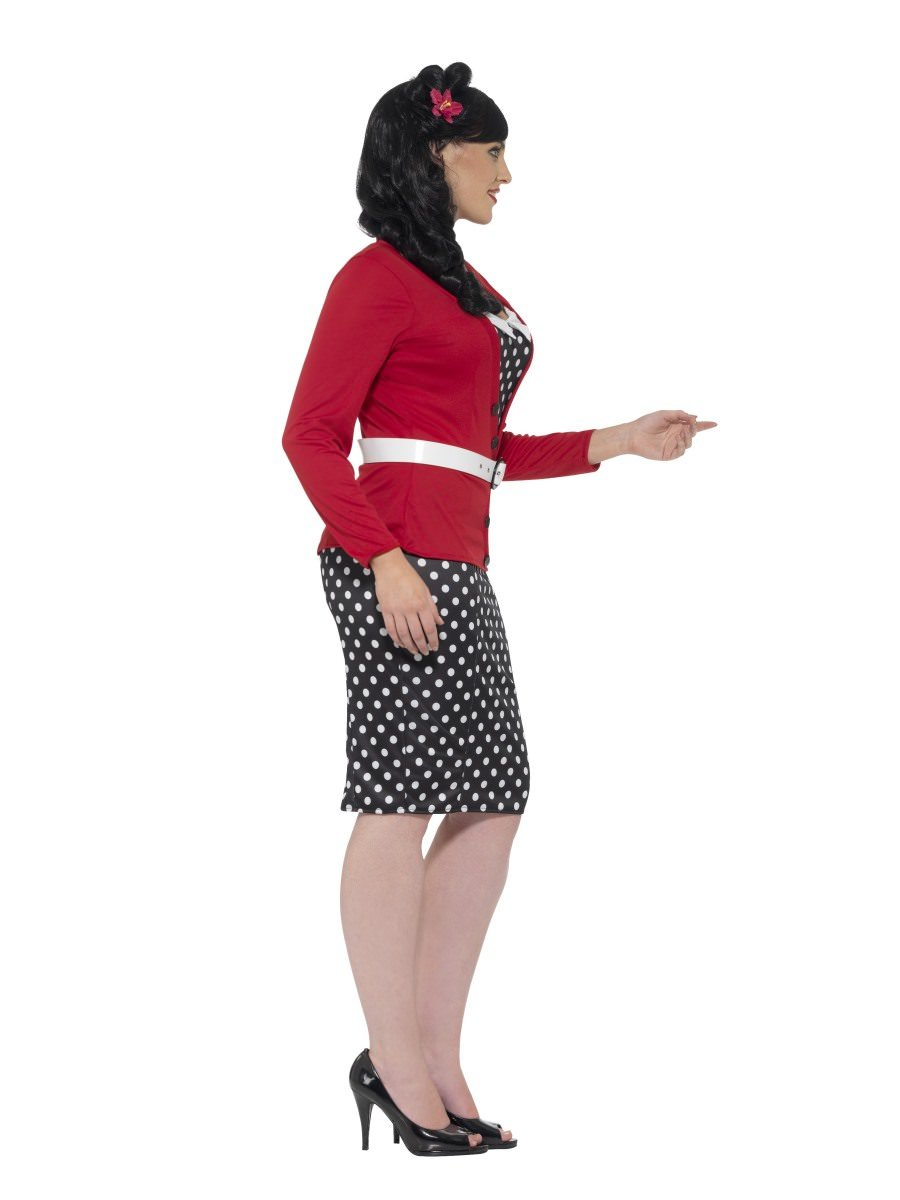 Smiffy/'s Women/'s Curves 50/'s PIn Up Polka Dot Adult Retro Costume Large 14-16