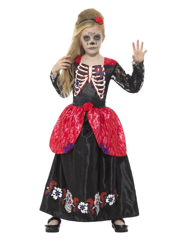 Deluxe Day of the Dead Girl Costume | Smiffys