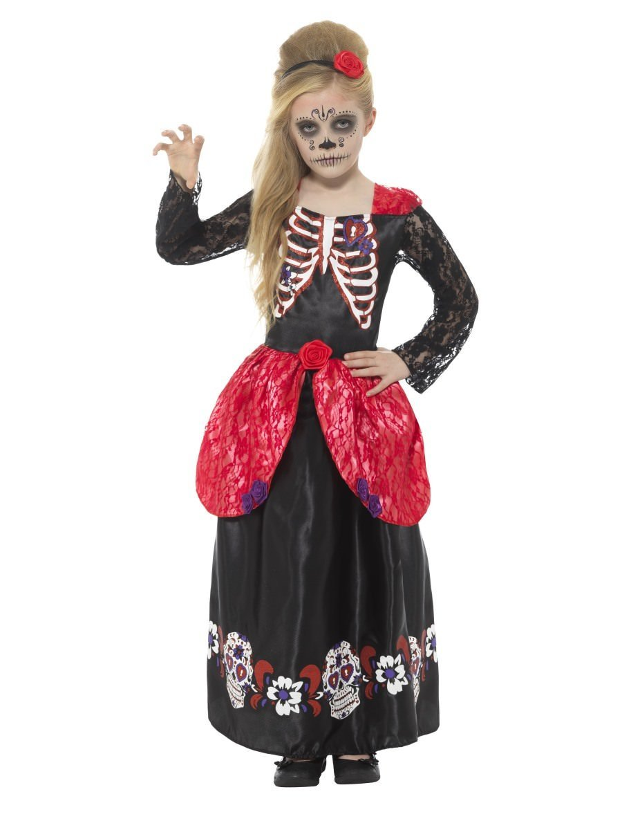 High Quality Deluxe Day Of The Dead Girl Costume