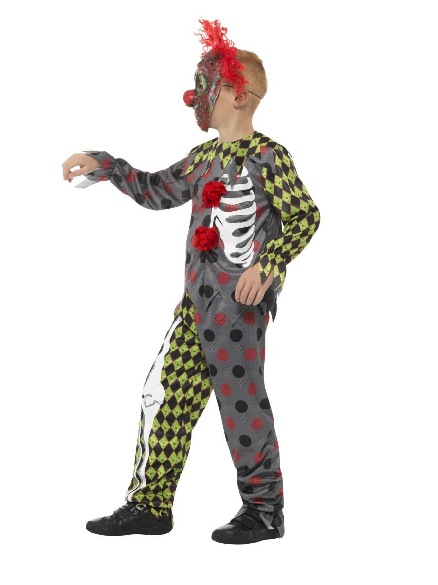 Smiffy/'s Child Twisted Clown EVA Halloween Costume Mask with Crazy Red Hair