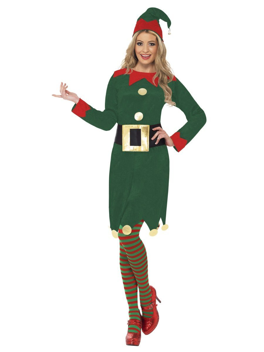 Elf Costume with Dress u0026 Belt  sc 1 st  Christmas Costumes | Smiffys.com - Smiffys Fancy Dress : christmas couple costumes  - Germanpascual.Com