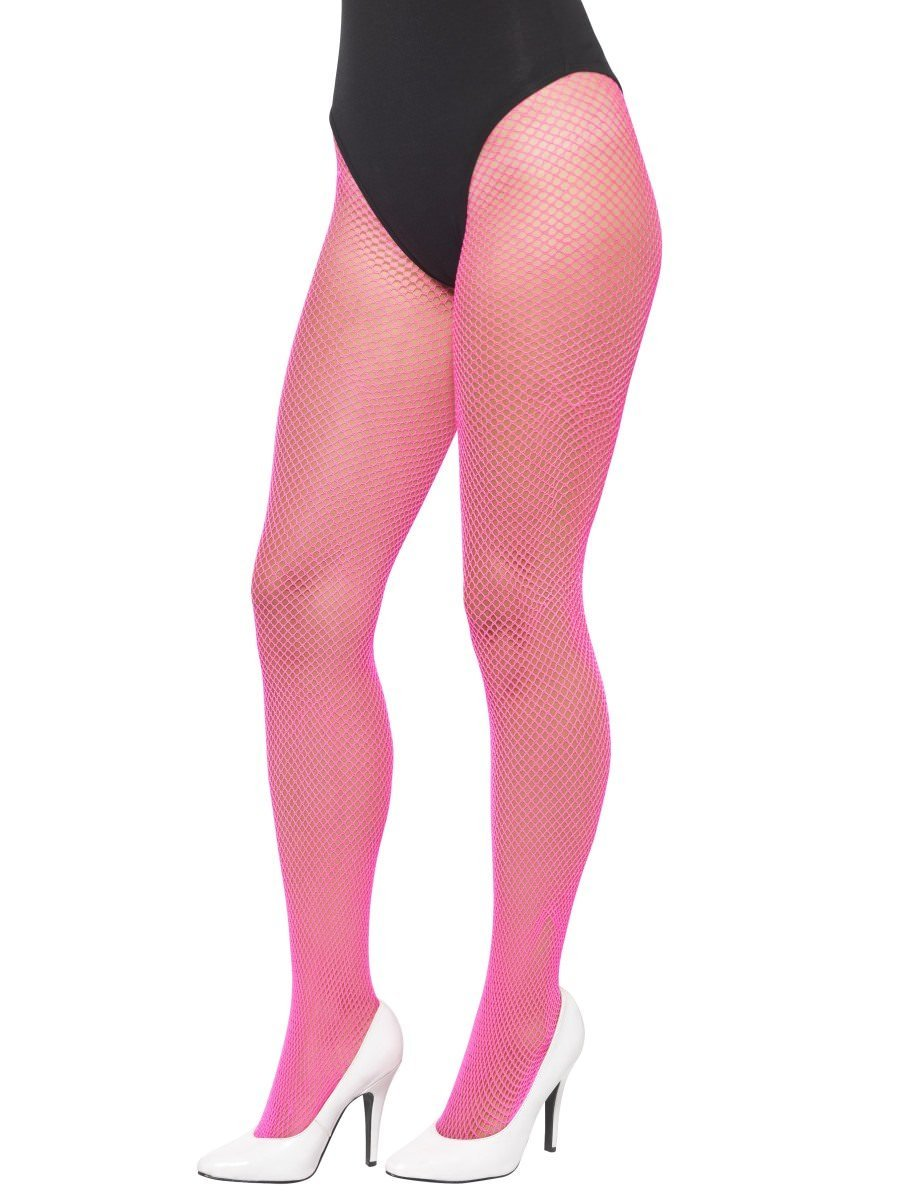911a4a5398a9e Fishnet Tights, Neon Pink | Smiffys