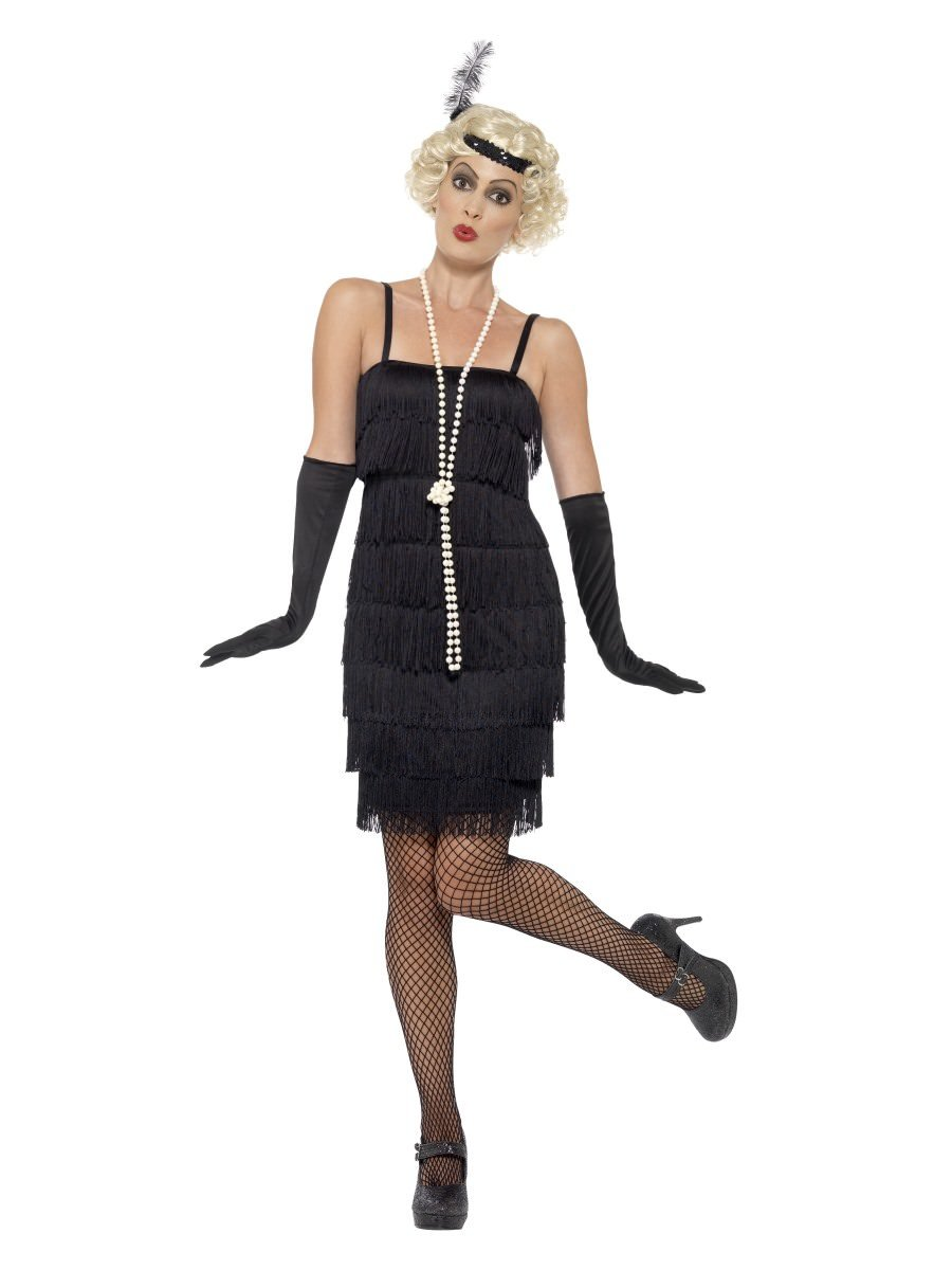 Flapper Costume Black with Short Dress  sc 1 st  Smiffys.com & Plus Size Costumes | Smiffys.com - Smiffys Fancy Dress