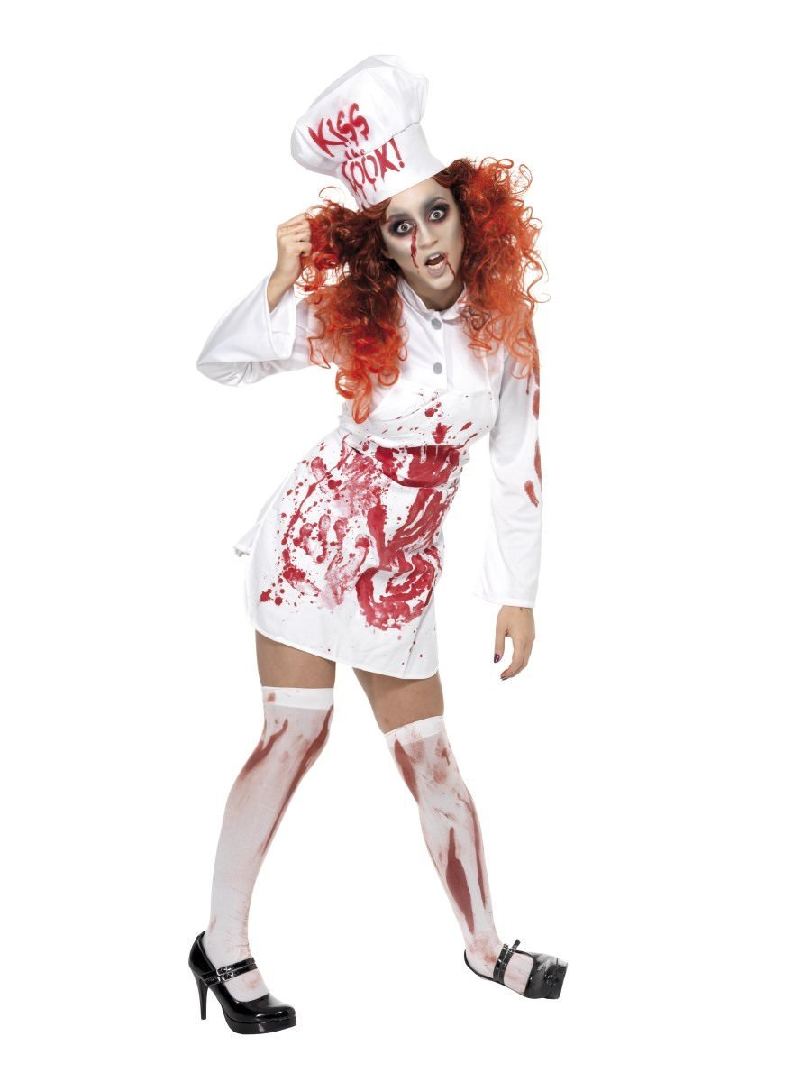 HALLOWEEN ZOMBIE BLOODY SURGEON FACEMASK AND CAP Fancy Dress Accessory