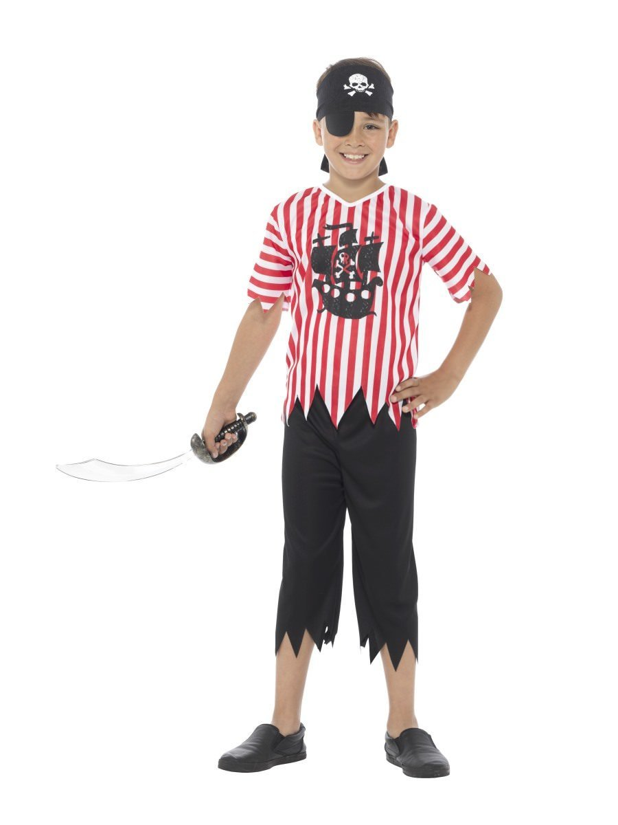 Jolly Pirate Boy Costume  sc 1 st  Smiffys.com : basic pirate costume  - Germanpascual.Com