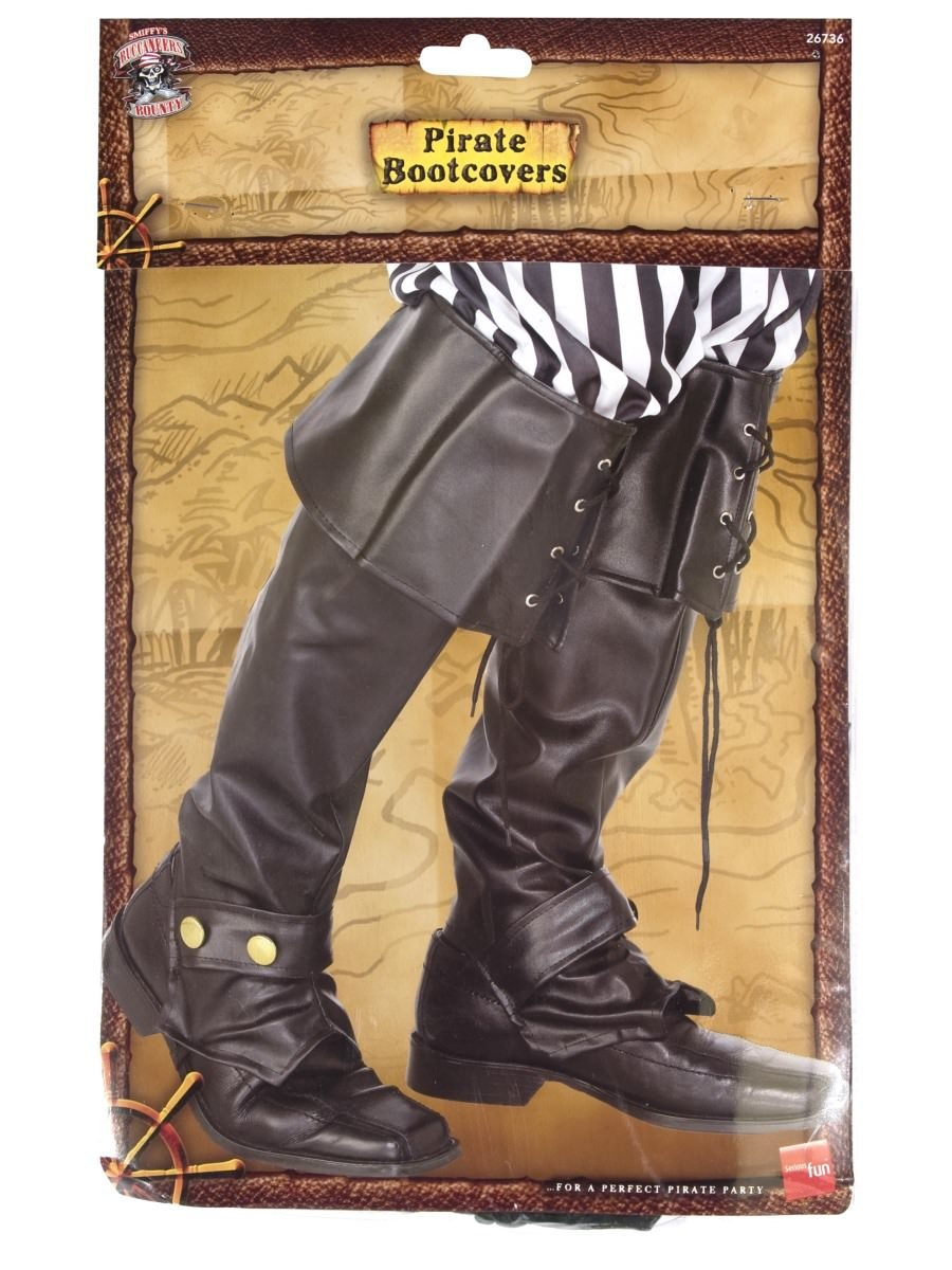 Pirate Boot Covers Smiffys Fancy Dress Costume