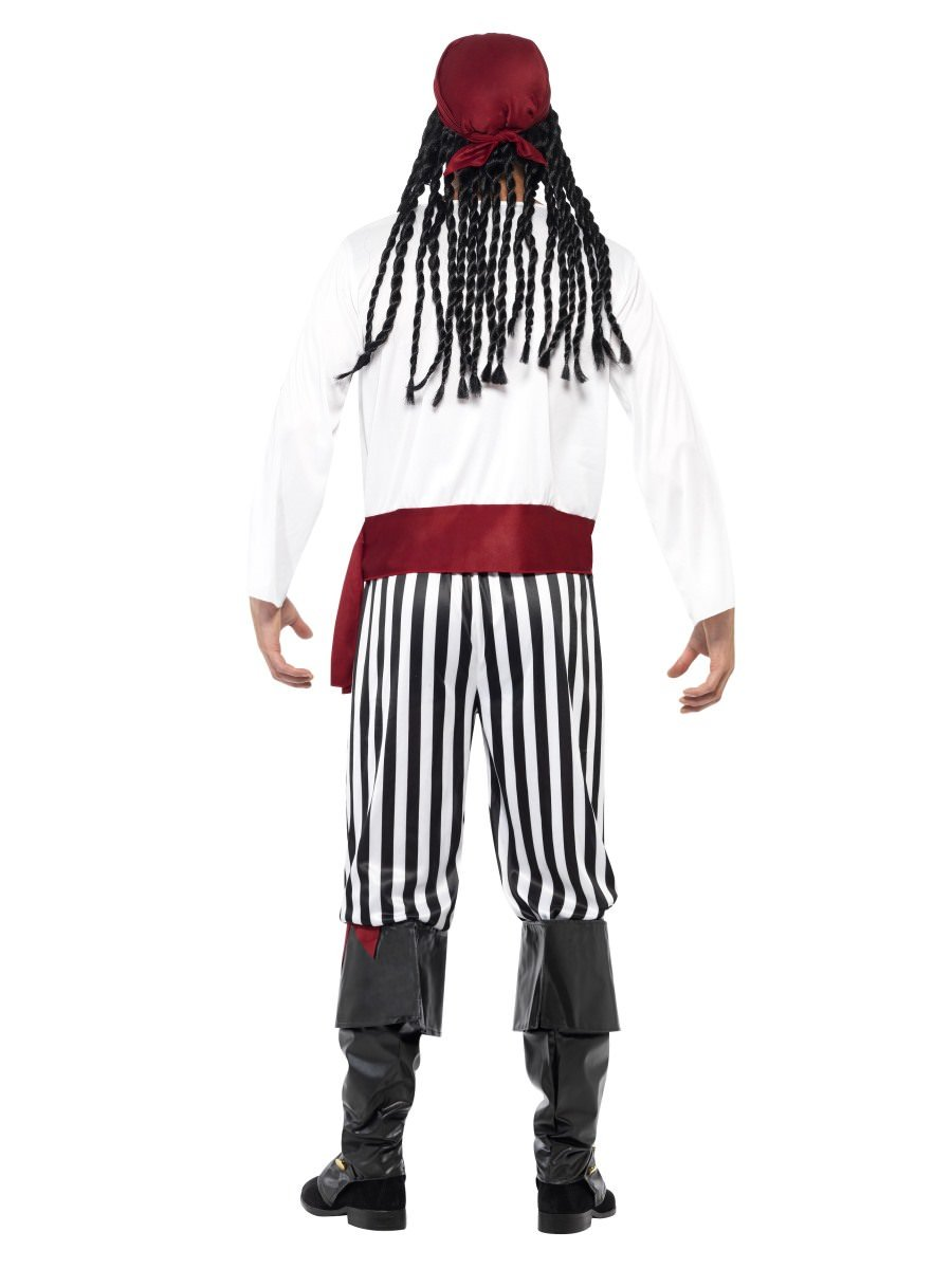 Smiffys Mens Pirate Man Costume with Shirt Trousers Headpiece and Belt