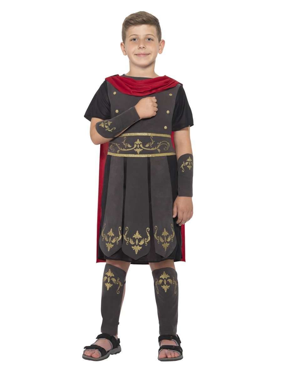 Boys Roman Gladiator Costume Warrior Soldier Fancy Dress Outfit Kids Age 4-12 yr