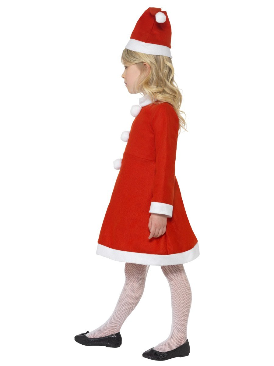 NEW Red with Dress /& Hat - Size: Large Age 10-12 Santa Girl Costume