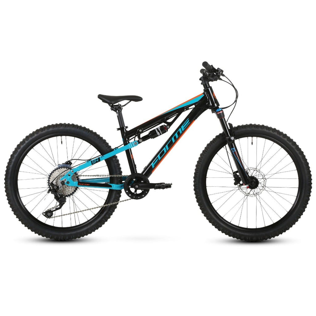 "Forme Rocks Junior 24"" Full Suspension Bike  Black/Orange/Blue 24"""