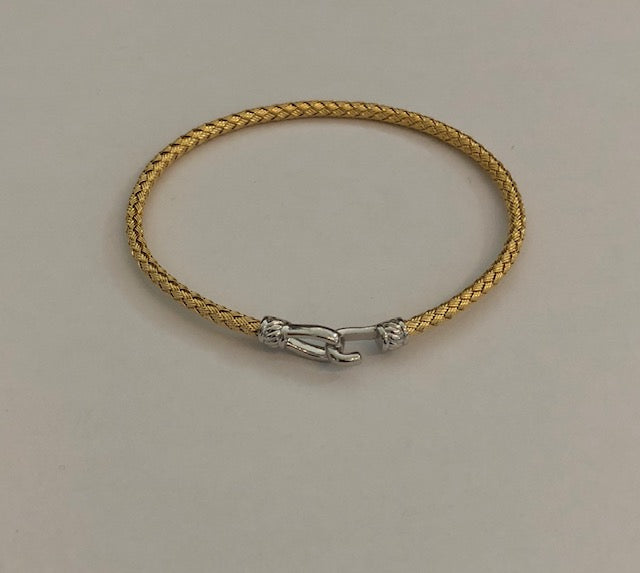 Gold and Silver Italian Hook bracelet