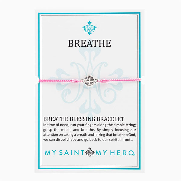 Breathe Blessing Bracelet- Pink