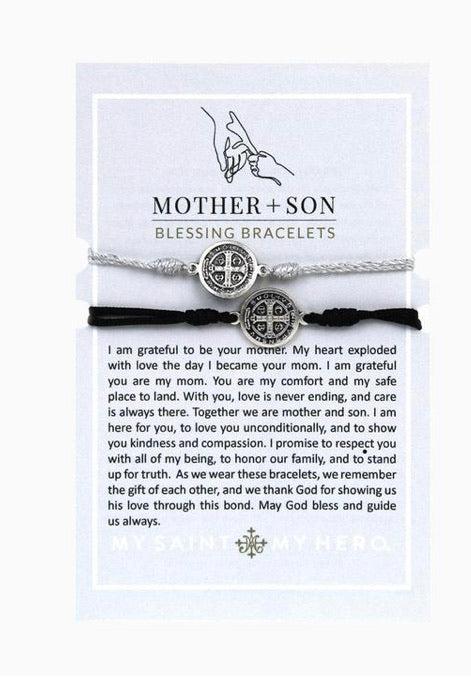 Mother + Son Blessing Bracelets