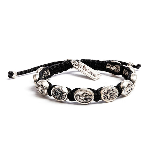 Miraculous Mary Blessing Bracelet- Black