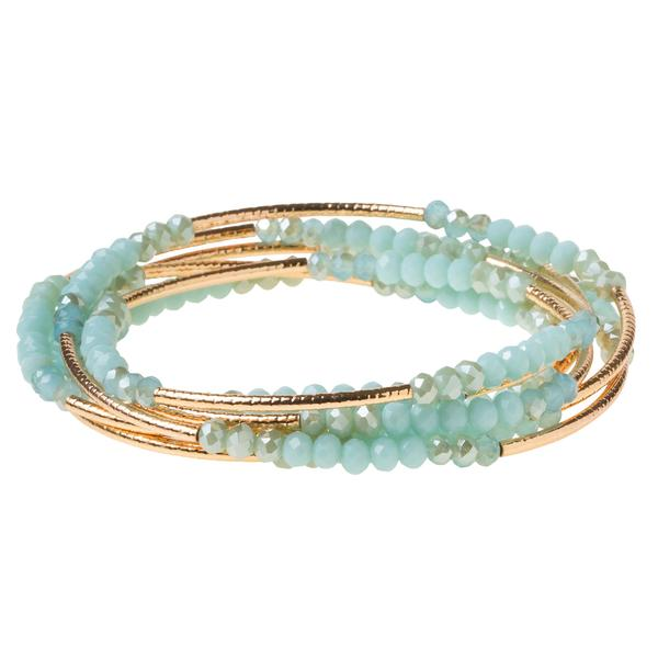 Scout Wrap: Turquoise/ Gold