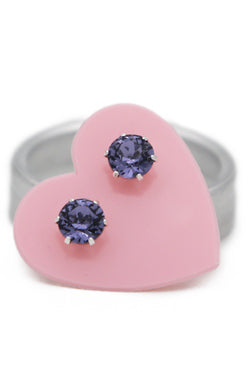 Violet Ultra Mini Bling Earring