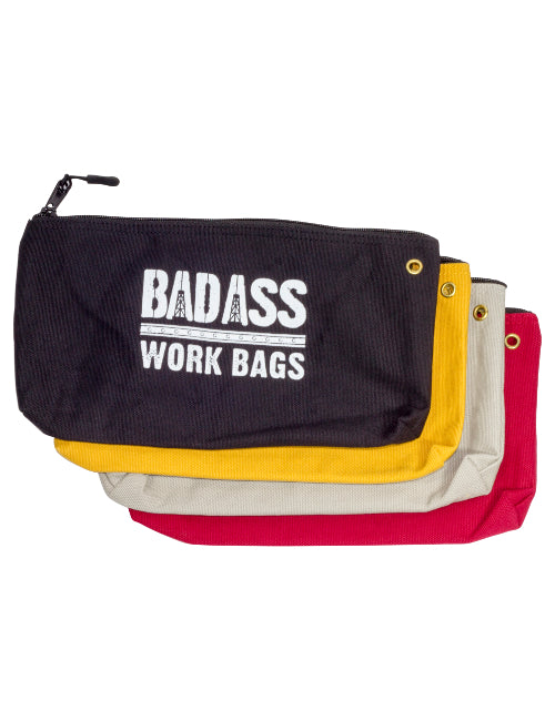 Set of Canvas Zipper Tool Pouches
