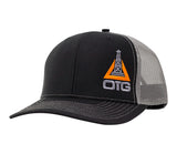Black and Orange Oilfield Hat