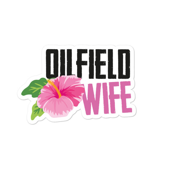 Oilfield Wife Flower Sticker
