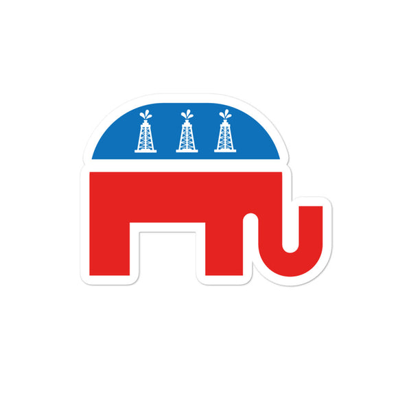 Oilfield Republican Sticker